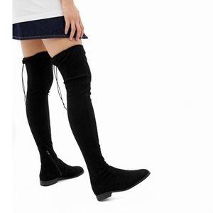 🆕 Petite Kaska Flat Studded Thigh-High Boots